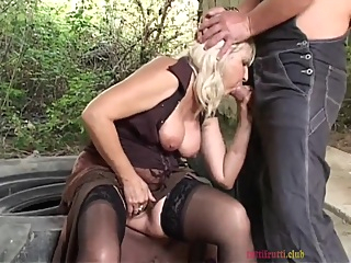 Naughty Granny Does It Outdoors pornheed anal big tits blonde
