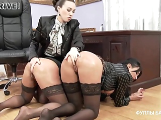 Busty office ladies decided to have a wild threesome with their boss, who is a lesbian pornheed anal bdsm big tits