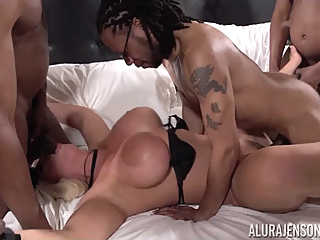 Alura Jenson in My First Interracial Gang Bang! - AluraJensonXXX pornheed big cock big tits blonde