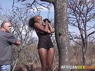 Ebony Girl Tied, Punished and Fucked Hard In Forest pornheed african bdsm ebony