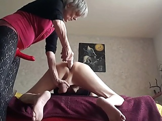 Dominant Granny Strapon Pegging Her Submissive Hubby pornheed amateur anal femdom