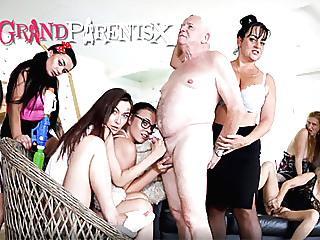 Perverted Oldies Orgy, part 2 pornheed amateur blowjob mature