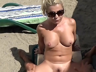 Hot Blonde with Big Tits Public Beach Fuck pornheed amateur beach big cock