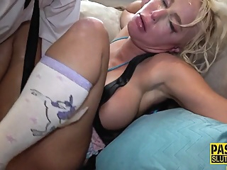 Sub milf throats in 3way with Pascal White pornheed bdsm deepthroat fetish