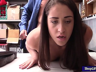 Suspected skinny thief pursuaded to strip and fuck officer pornheed amateur brunette handjob